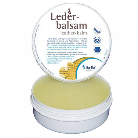 Ha-Ra Leather Balm with Natural Beeswax + Cloth