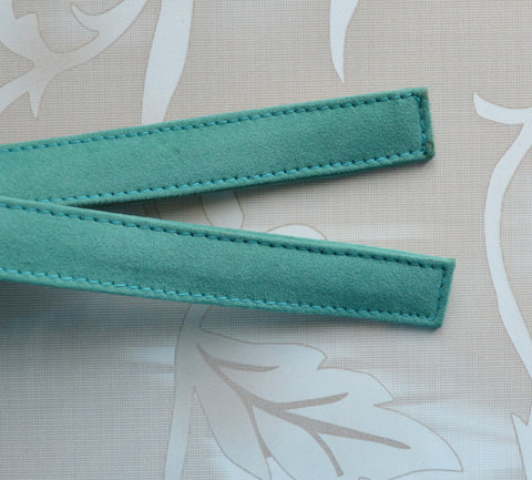 Bag Handles - Green ( Suede )