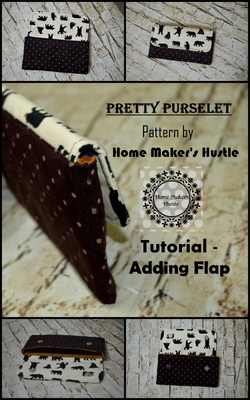 The Pretty Purselet ( FREE )Tutorial - Adding Flap