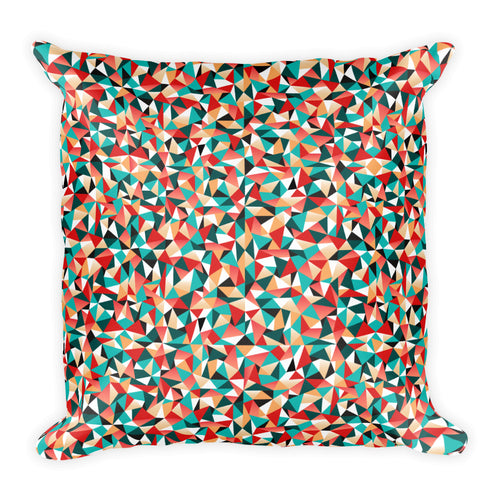 Colourful triangles: Square Pillow