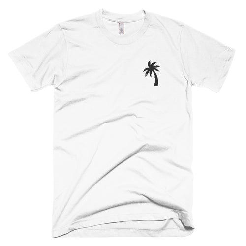Coconut Tree : American Apparel Collection 2001W Unisex Embroidered T-Shirt