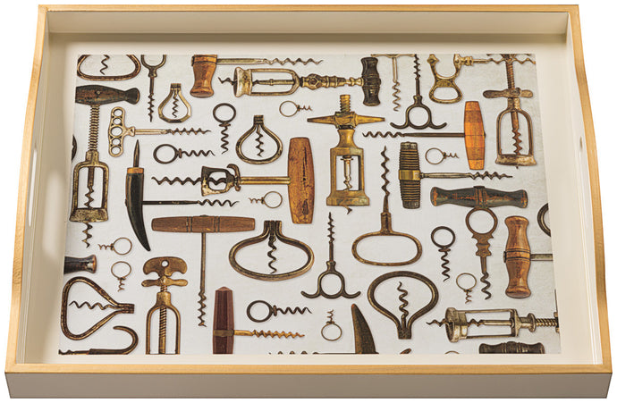 Corkscrews, large cream tray