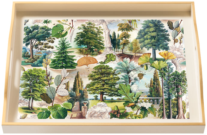 Life of Trees, large cream tray