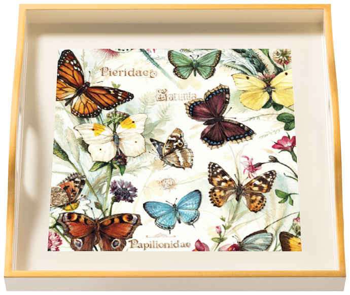 Butterflies, small cream tray