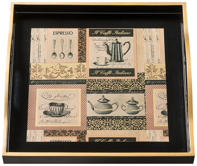 Caffe Italiano, small black tray