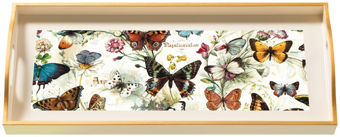 Butterflies, sandwich cream tray