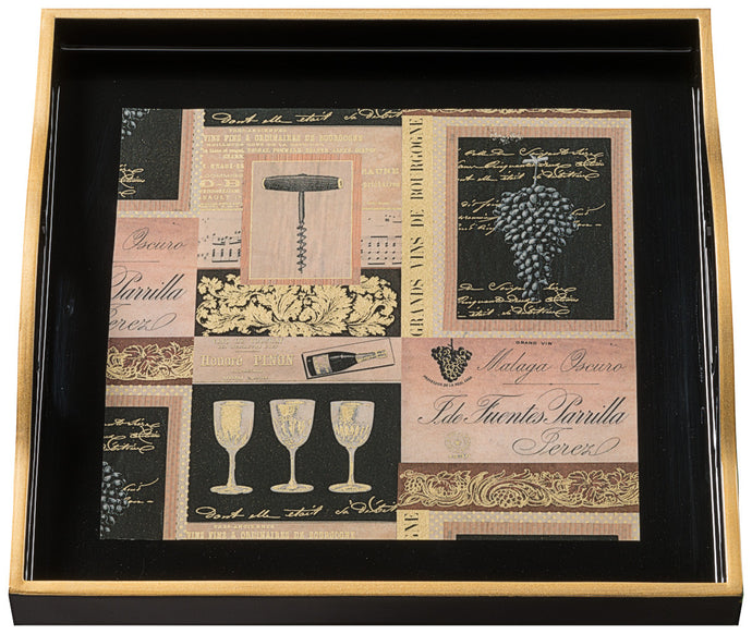Vins de France, small black tray