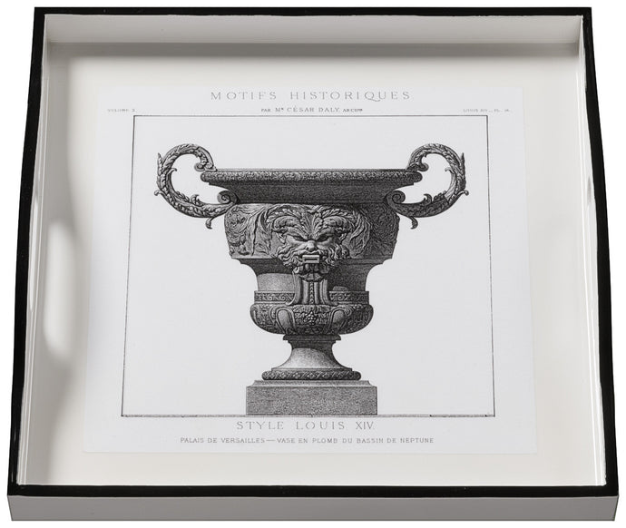 Urns on White, small white tray