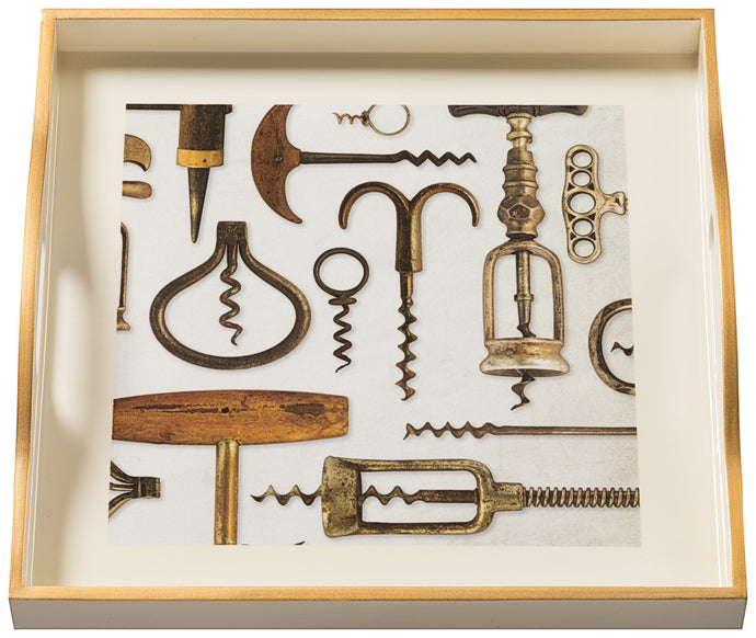 Corkscrews, small cream tray