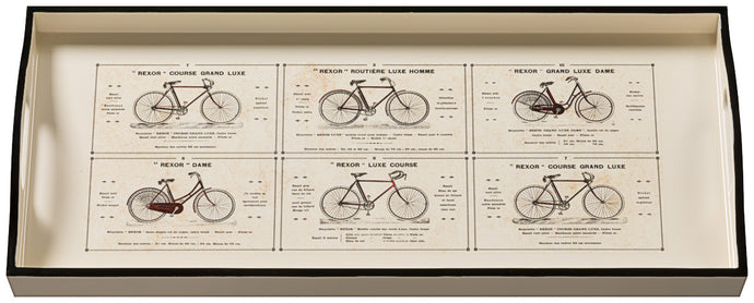 Bicycles, sandwich cream tray
