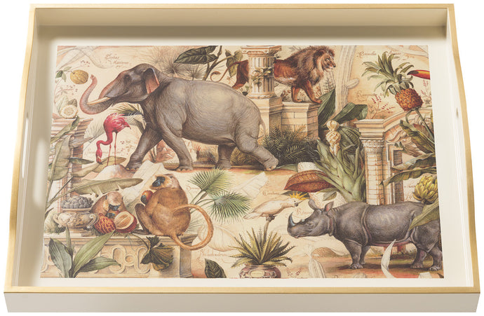 Wild Animals, large cream tray