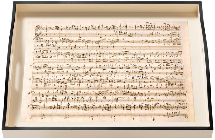 Music Mozart, large cream tray