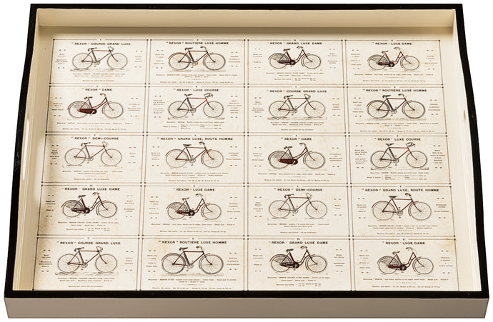 Bicycles, large cream tray