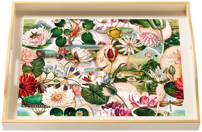 Waterlily, large cream tray