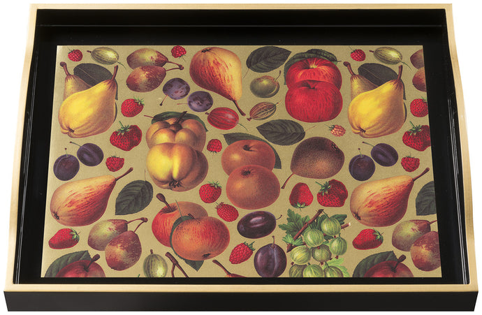 Fruits, large black tray