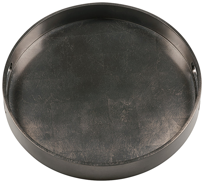 Grey Leaf Matt, medium round tray