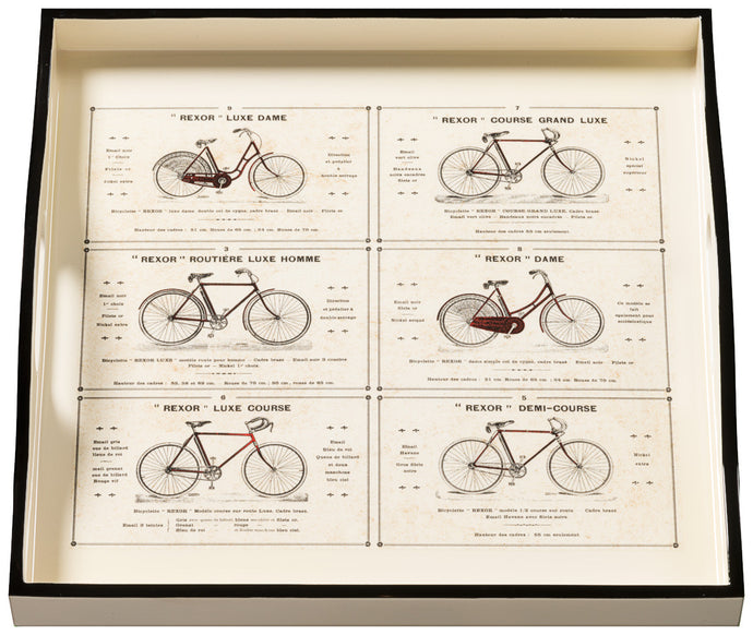 Bicycles, small cream tray