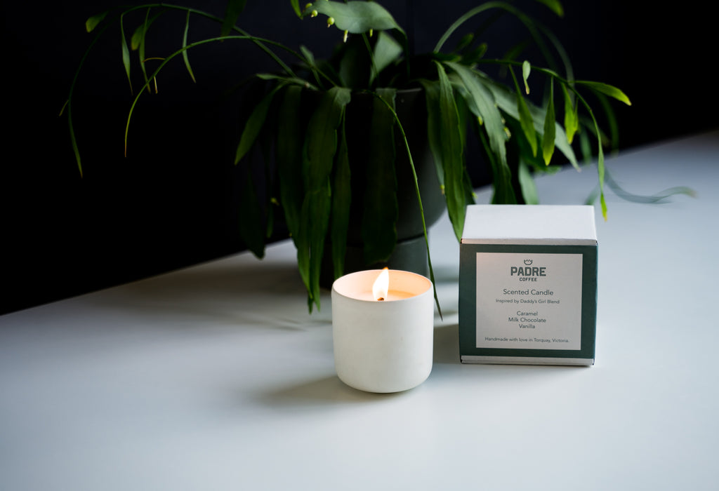 made and more X Padre Coffee candle