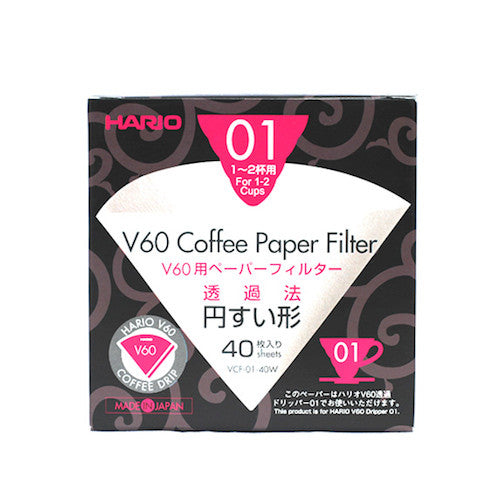 Hario V60 Filters 1 Cup (40 pack)