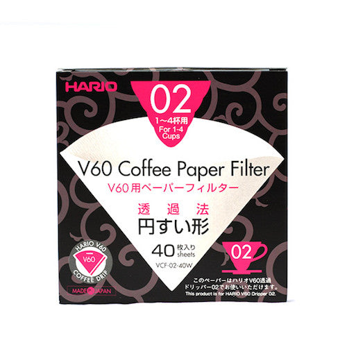 Hario V60 Filters 2 Cup (40 pack)
