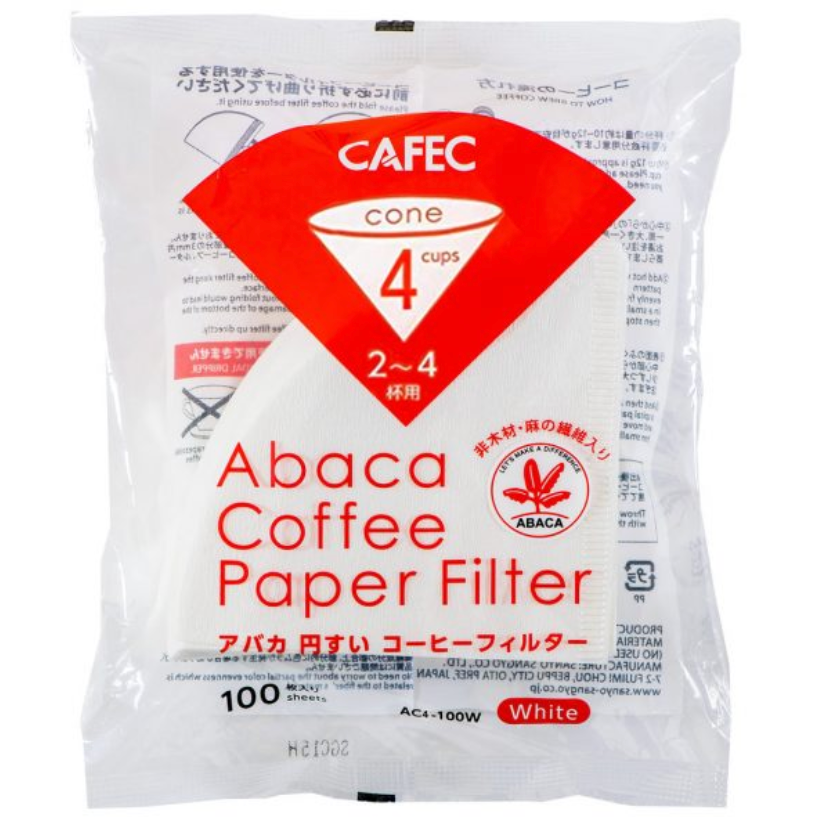 Cafec 2 Cup Abaca Filter Paper 100 Pack