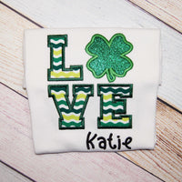 LOVE - Personalized St. Patrick's Day Shirt