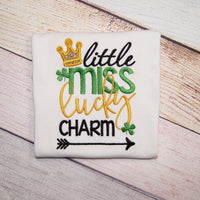 Little Miss Lucky Charm - St. Patrick's Day Shirt