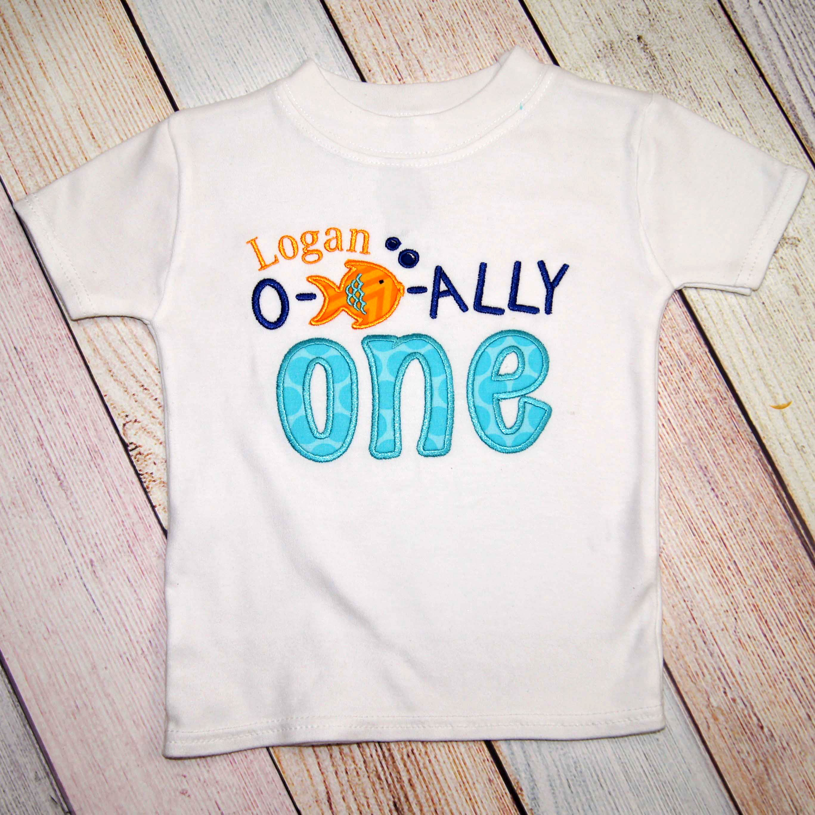 O FISH Ally One Birthday Shirt