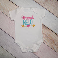 Brand New Baby Girls Bodysuit with Arrow