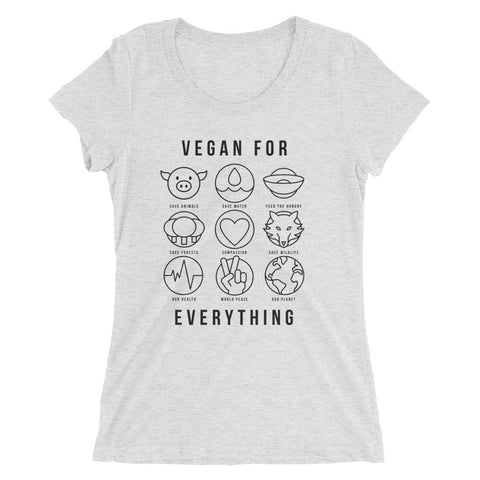 Vegan For Everything - Black - Women's short sleeve t-shirt