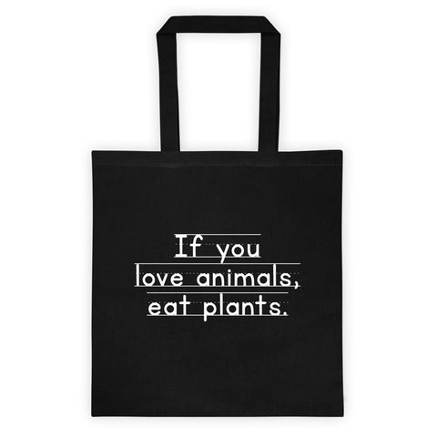 Love Animals, Eat Plants - Flat Tote bag