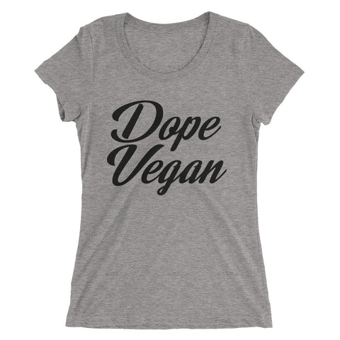Dope Vegan Black - Ladies' short sleeve t-shirt