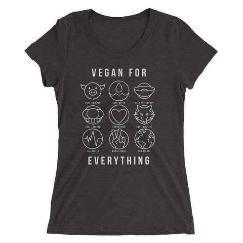 Vegan For Everything - White - Women's short sleeve t-shirt