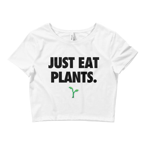 Just Eat Plants - Black - Women's Crop Tee
