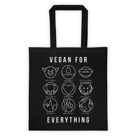 Vegan for Everything - Flat Tote bag