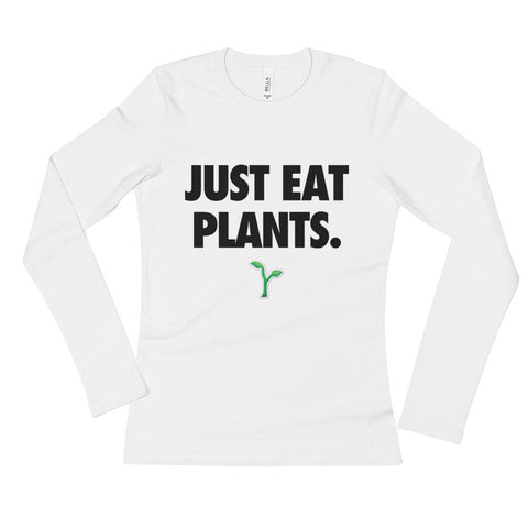 Just Eat Plants - Black - Women's Long Sleeve T-Shirt
