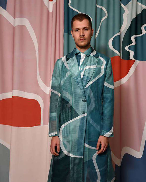 GREEN DELTA ROBE,JEUX DE MAINS, Curated Designer at Freesigners.com