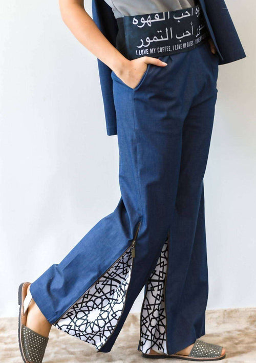 Denim Arabic Pants,ARSHYS, Curated Designer at Freesigners.com