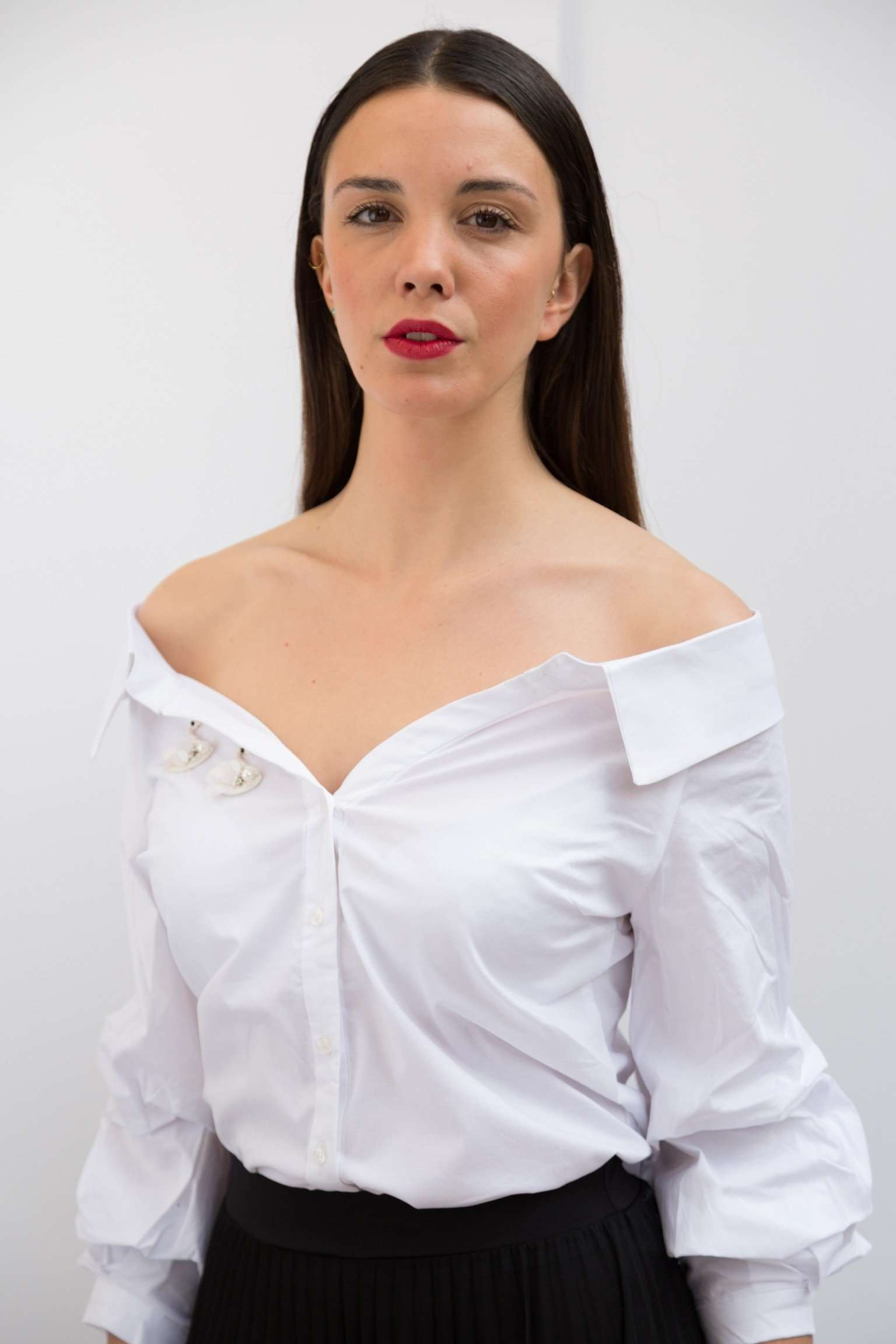 PC460-OFF SHOULDERS WHITE SHIRT,Posh couture, Curated Designer at Freesigners.com