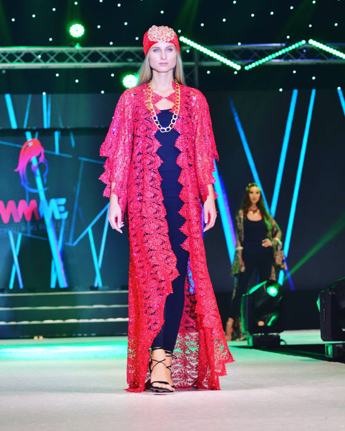 Red Kaftan,YOHANA CREATIONS, Curated Designer at Freesigners.com