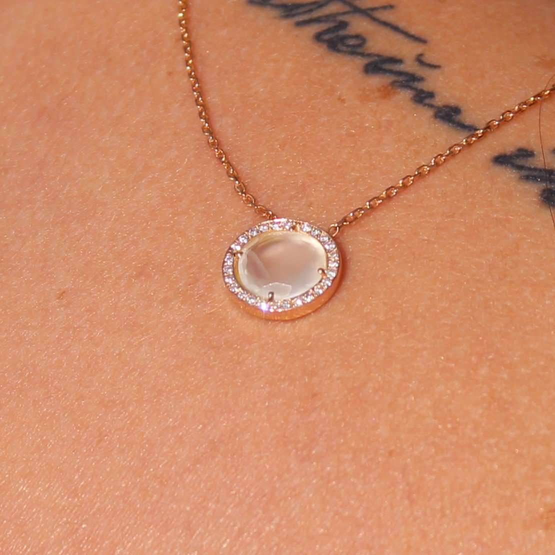 The Moonstone Necklace,Aurum Jewellery, Curated Designer at Freesigners.com