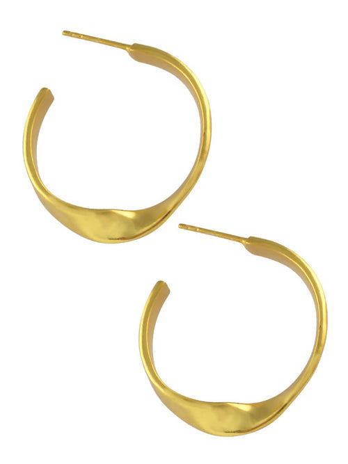 Twisted golden hoops,Arvind Agarwal, Curated Designer at Freesigners.com