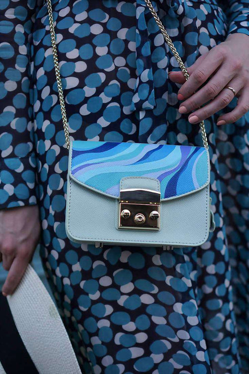 BLUES Mini Candy 100% Leather Handbag,WOODO unique designer bags, Curated Designer at Freesigners.com