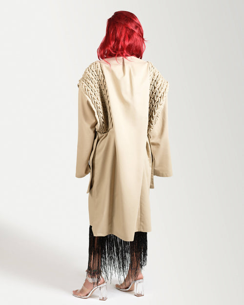 Smocked trench,RAFA Homme, Curated Designer at Freesigners.com