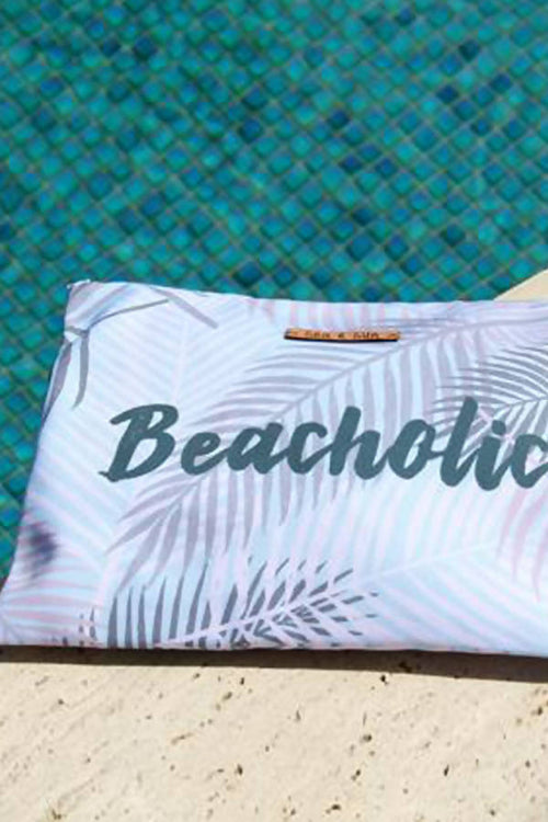 Beacholic Waterproof lined Bag for the Beach, Pool, Travel or Makeup,Kardia, Curated Designer at Freesigners.com