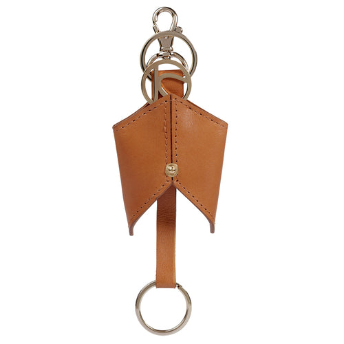 Camel Ascot Leather Keyfob,Kaizer, Curated Designer at Freesigners.com