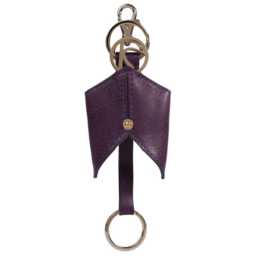 Violet Ascot Leather Keyfob,Kaizer, Curated Designer at Freesigners.com