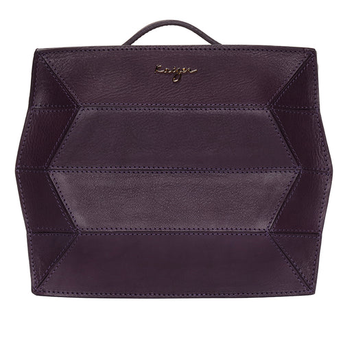 Violet Ascot Leather Backpack,Kaizer, Curated Designer at Freesigners.com