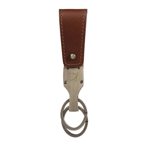 Dark brown Duncan Leather Key fob,Kaizer, Curated Designer at Freesigners.com