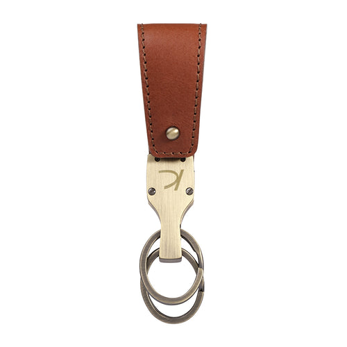 Brown Duncan Leather Key fob,Kaizer, Curated Designer at Freesigners.com